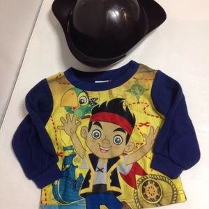 Disney Jake the pirate hat and pj top